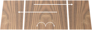 Centre Jointed veneer