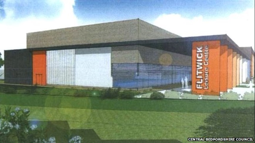 DarntonB3 architects Plan of Flitwick Leisure Centre